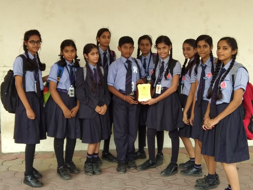 Our champions clinched the best school award in Inter school Drawing Competition