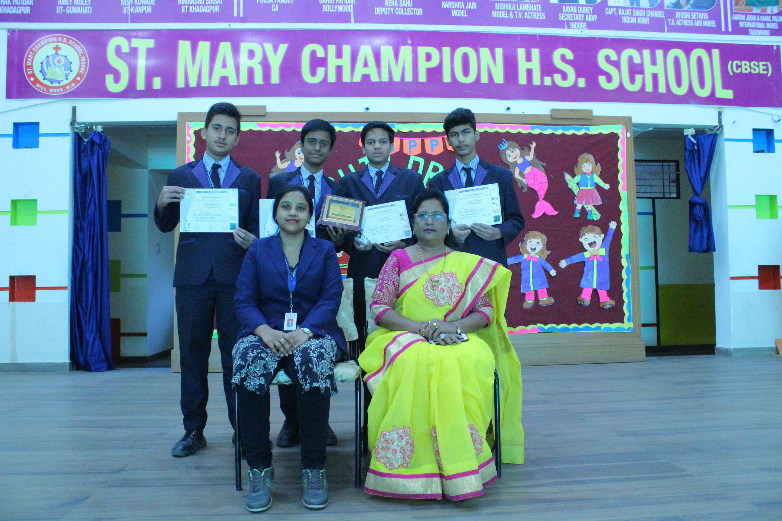 Our Champions won-the-Best-Researched-Project award in Biology-Senior-Bal-Vigyan-2019