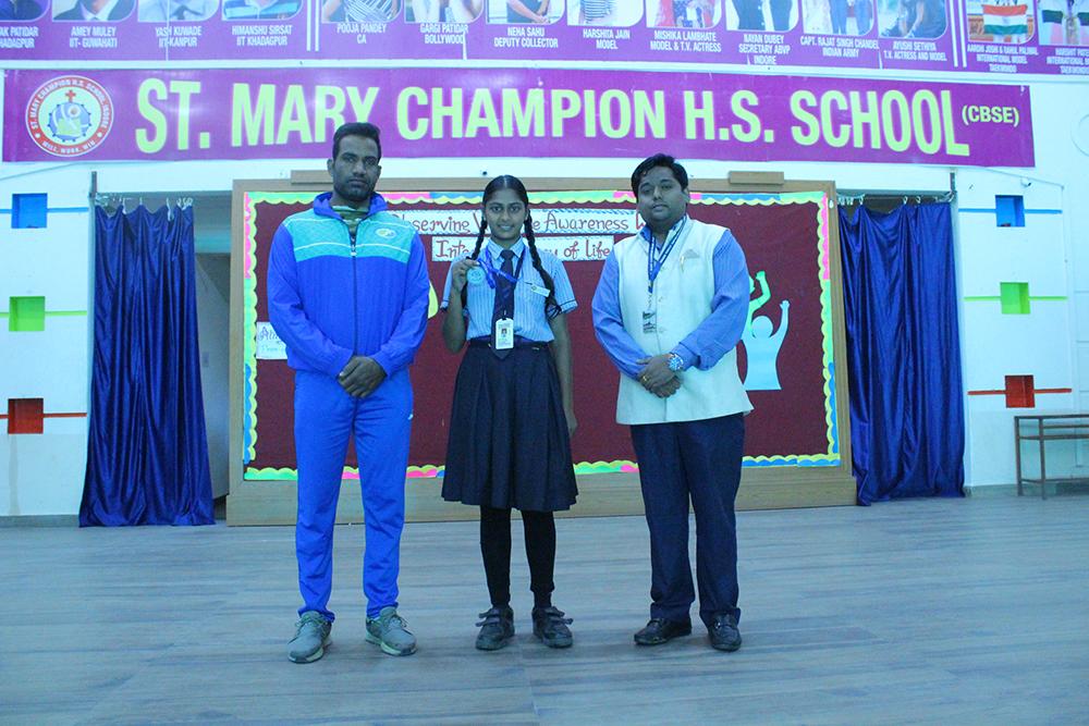 CBSE West Zone-Taekwondo-Championship-Jaipur-2019-K-Madhumita-Class-X-got Bronze-Medal